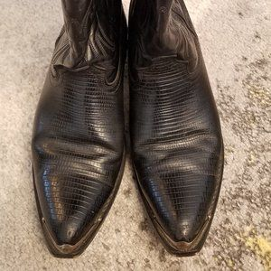 Laredo Black Leather Western Boots 10.5 D